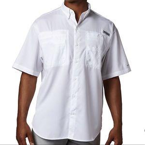 NEW Columbia TAMIAMI II Fishing Shirt XL PFG White